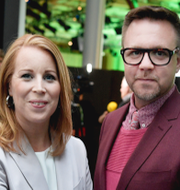 Annie Lööf, Fredrick Federley och Michael Arthursson.  TT