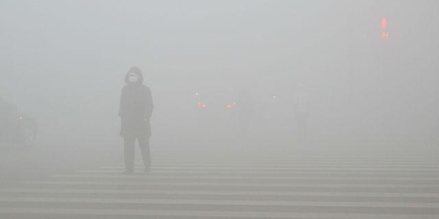 Så här såg det ut i staden Weifang i provinsen Shandong den 21 december. CHINA STRINGER NETWORK / TT NYHETSBYRÅN