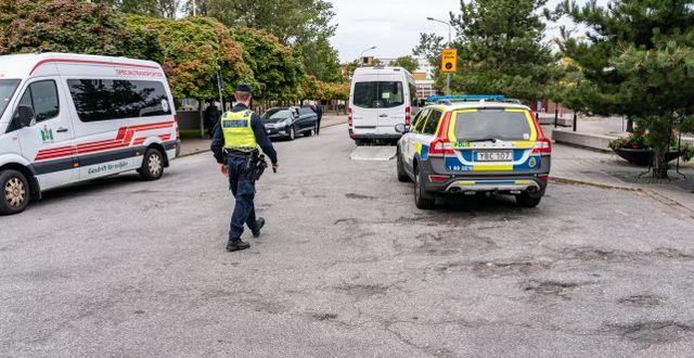 Arkivbild från polisinsats i samband med koranbränningen Johan Nilsson/TT / TT NYHETSBYRÅN