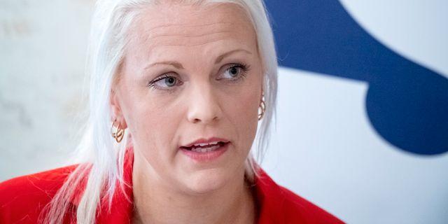 Sölvesborgs kommunalråd Emilie Pilthammar (M). Johan Nilsson/TT / TT NYHETSBYRÅN