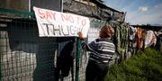 Boende i Kapstaden protesterar mot gängvåldet i staden.  Mike Hutchings / TT NYHETSBYRÅN