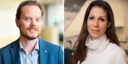 Vänster: SD:s miljötalesperson Martin Kinnunen. Till höger: Lina Burnelius, ansvarig för skogsfrågor på Greenpeace. TT / Greenpeace