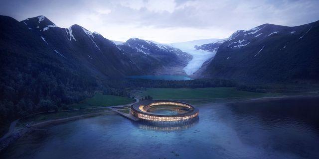Norge bygger världens första energipositiva hotell. Snøhetta