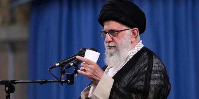 Irans högste andlige ledare Ali Khamenei.  HANDOUT / TT NYHETSBYRÅN