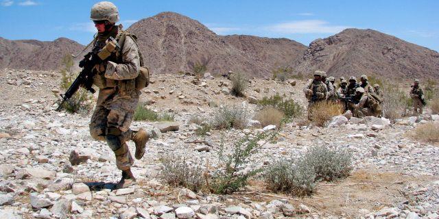 Amerikanska soldater i Afghanistan. Capt. Paul Greenberg / TT NYHETSBYRÅN