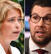 Annika Strandhäll, Jimmie Åkesson, Annie Lööf.  TT