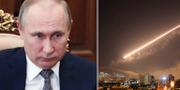 Vladimir Putin. USA, Frankrike och Storbritannien anföll flera mål i Syrien natten till lördagen.  TT