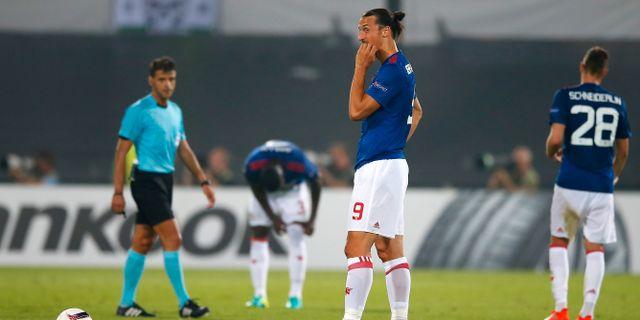 Det blev förlust för Zlatan Ibrahimovic och Manchester United i kvällens Europa League-match mot Feyenoord. Peter Dejong / TT / NTB Scanpix