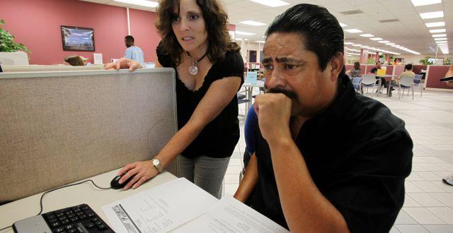 Illustrationsbild: Arbetssökande i San Jose, Kalifornien. Paul Sakuma / TT NYHETSBYRÅN