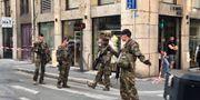 En stor polisinsats är på plats i Lyon. Sebastien Erome / TT NYHETSBYRÅN