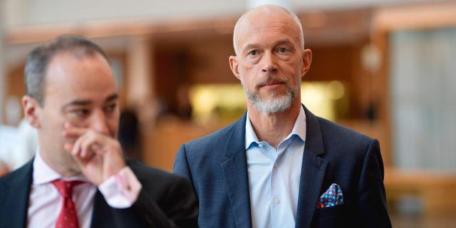 Anders Karlsson till höger. Anders Wiklund/TT / TT NYHETSBYRÅN