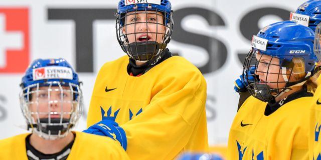 Hanna Olsson i Sveriges Damkronor. Arkivbild.  Jonas Ekströmer/TT / TT NYHETSBYRÅN