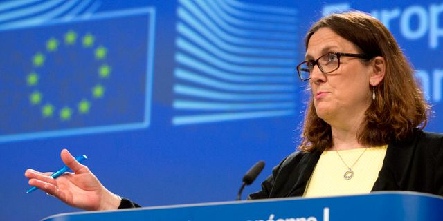 Cecilia Malmström, EU:s handelskommissionär.  Virginia Mayo / TT / NTB Scanpix