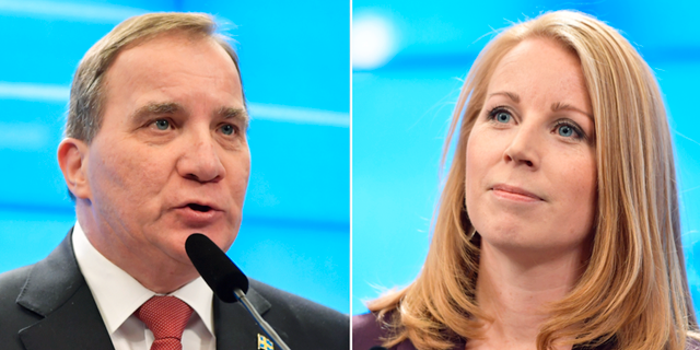 Stefan Löfven och Annie Lööf.  TT