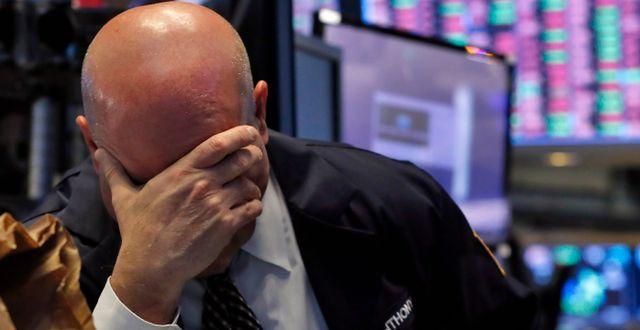 Wall Street arkivbild. Richard Drew / TT NYHETSBYRÅN