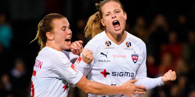 Rosengårds Jessica Samuelsson och Anna Anvegård. PETTER ARVIDSON / BILDBYRÅN