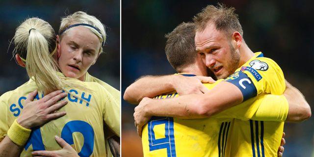 Nilla Fischer och Olivia Scough/Andreas Granqvist. TT