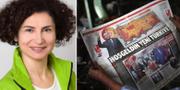 Alev Korun, turkisk tidning efter omröstningen. Parlamentsdirektion / PHOTO SIMONIS / TT