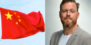 Kinas flagga/Kristoffer Appelquist. TT