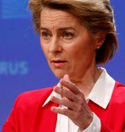 EU-kommissionens ordförande Ursula von der Leyen. Francois Lenoir / TT NYHETSBYRÅN