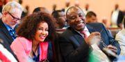 Sydafrikas president Cyril Ramaphosa och utrikesminister Lindiwe Sisulu när avtalet undertecknades i Rwanda 2018 Stringer / TT NYHETSBYRÅN