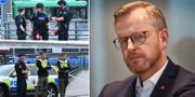 Mikael Damberg t.h. TT
