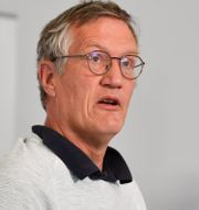 Statsepidemiolog Anders Tegnell och Svante Werger, rådgivare, Myndigheten för samhällsskydd och beredskap Anders Wiklund/TT / TT NYHETSBYRÅN