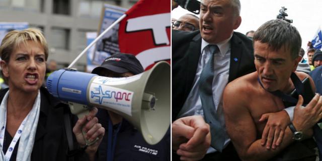 Protester mot Air France/Xavier Broseta TT