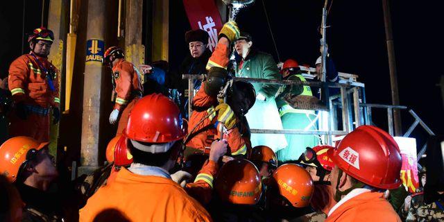 Majoriteten av gruvarbetarna raddade
