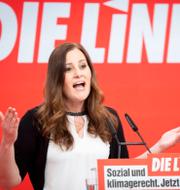 En av Die Linkes två partiledare Janine Wissler till vänster och en av AfD:s två partiledare Alice Weidel till höger. TT
