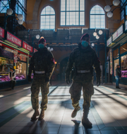 Premiärminister Viktor Orbán / Militär patrullerar en marknad i Budapest TT