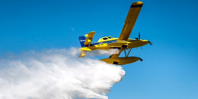 Uppvisning av de nya brandflygplanen i början av juni. Pontus Lundahl/TT / TT NYHETSBYRÅN