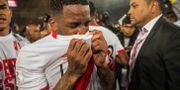 Perus Jefferson i tårar efter segern. ERNESTO BENAVIDES / AFP