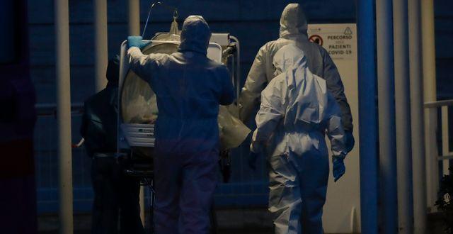 Bild från ett sjukhus i Rom Alessandra Tarantino / TT NYHETSBYRÅN