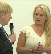 Boris Johnson och Jennifer Arcuri. Innotech Network/YouTube