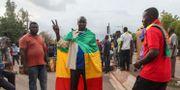Demonstranter i huvudstaden Bamako Baba Ahmed / TT NYHETSBYRÅN