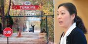 """En man som har deporterats av Turkiet och som har fastnat i ingenmansland mellan Turkiet och Grekland. """"Inte vårt problem"""", sa Erdogan förra veckan. Ahn-Za Hagström till höger. TT"""