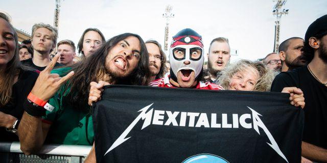 Metallicafans under Metallicas konsert på Ullevi. Jonas Lindstedt/TT / TT NYHETSBYRÅN