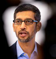 Arkivbild: Googles vd Sundar Pichai.  Virginia Mayo / TT NYHETSBYRÅN
