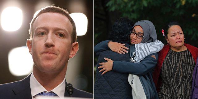 Mark Zuckerberg, sörjande i Christchurch där 50 människor mördades i ett terrordåd mot två moskéer.