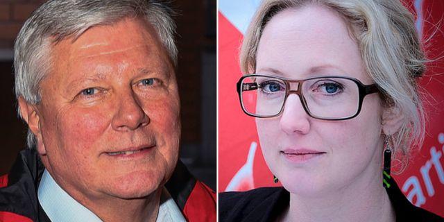 Lars Ohly och Hanna Gedin. TT/Vänsterpartiet