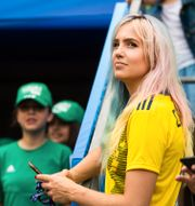 Linnéa Claeson i Nice under Sveriges match mot Thailand. SIMON HASTEGÅRD / BILDBYRÅN