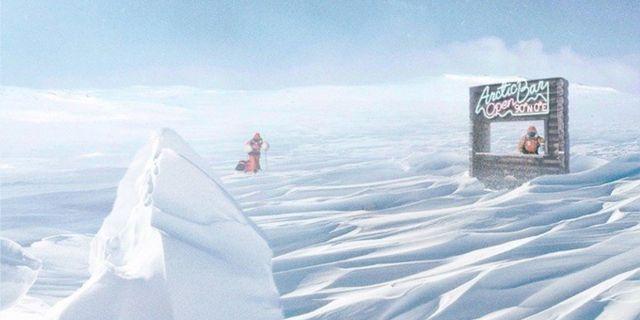 Popup-baren på Nordpoolen är bara vara öppen en enda dag och väntas se ut ungefär så här. Arctic Brands Group