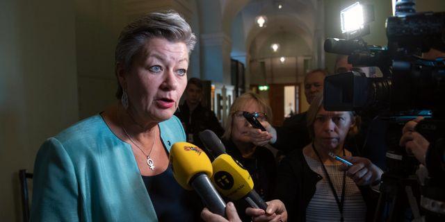 Ylva Johansson (S), Sveriges EU-kommissionär. Henrik Montgomery/TT / TT NYHETSBYRÅN