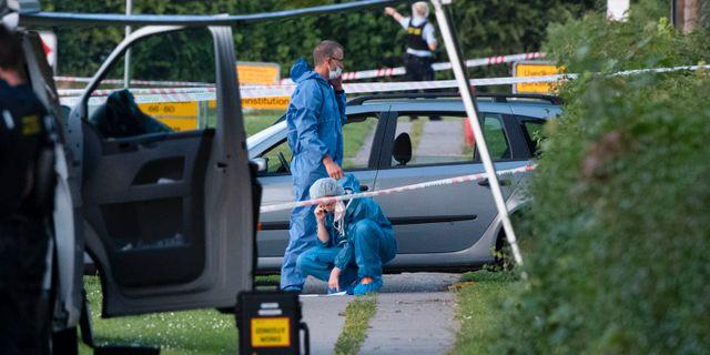 En silverfärgad Audi är polisens huvudspår. Johan Nilsson/TT / TT NYHETSBYRÅN