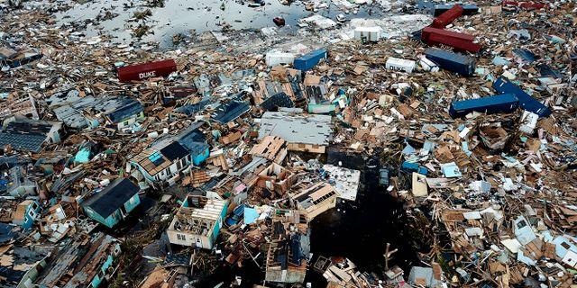 Förödelse på ön Abaco. Al Diaz / TT NYHETSBYRÅN