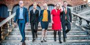 Stadshusets nya grönblå styre. Tomas Oneborg/SvD/TT / TT NYHETSBYRÅN