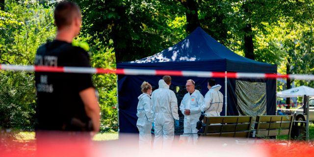 Bild från efter mordet. CHRISTOPH SOEDER / dpa