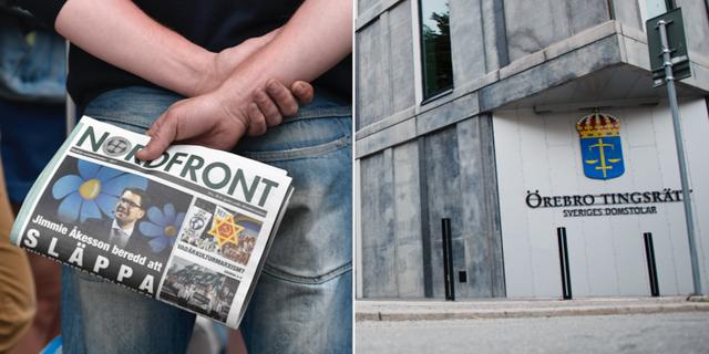 Nazistiska tidningen Nordfront/Örebro tingsrätt TT