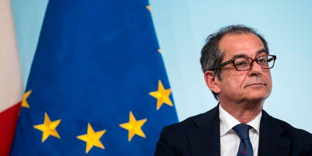 Arkivbild: Italiens ekonomiminister Giovanni Tria.  Angelo Carconi / TT NYHETSBYRÅN/ NTB Scanpix